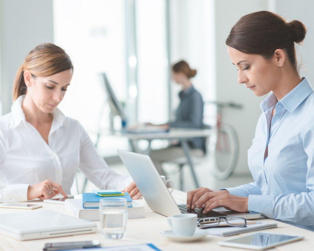 Successful women entrepreneurs at work